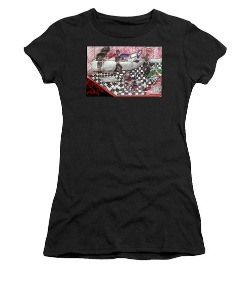 Cafe Bacteria Women's T-Shirt (Junior Cut) by Marcia Kaye Rogers