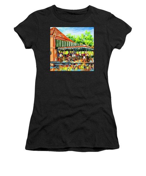 Cafe Du Monde Lights Women's T-Shirt (Athletic Fit)