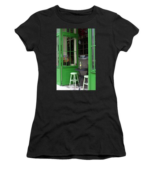 Cafe In Green Women's T-Shirt (Athletic Fit)