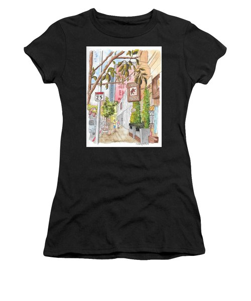 Cafee Primo In Sunset Plaza, West Hollywood, California Women's T-Shirt (Athletic Fit)