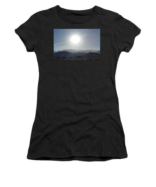 Cajon Pass Sunset Women's T-Shirt (Athletic Fit)
