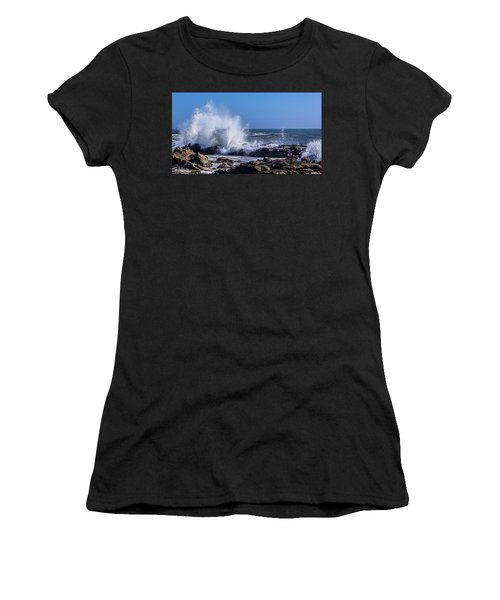 Wave Crashing On California Coast Women's T-Shirt