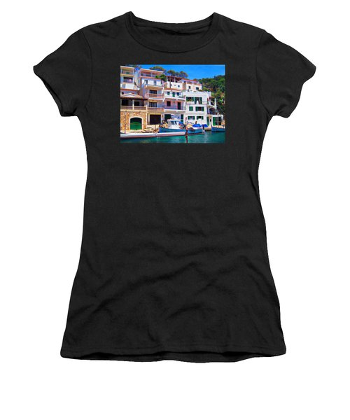 Women's T-Shirt (Junior Cut) featuring the photograph Cala Figuera by Andreas Thust