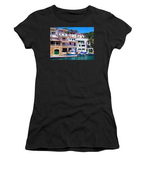Cala Figuera Women's T-Shirt (Junior Cut) by Andreas Thust