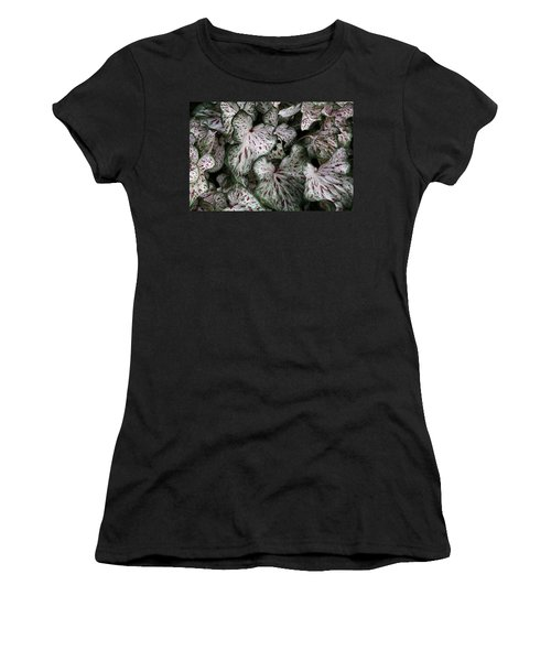 Women's T-Shirt featuring the photograph Caladium Leaves by Debi Dalio