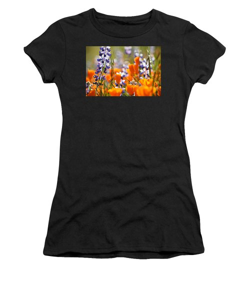 California Poppies And Lupine Women's T-Shirt