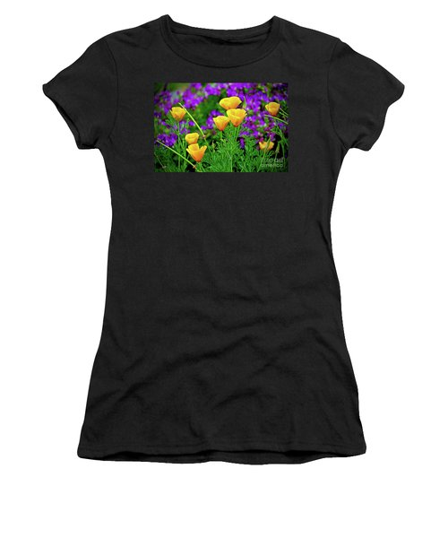 California Poppies Women's T-Shirt (Athletic Fit)