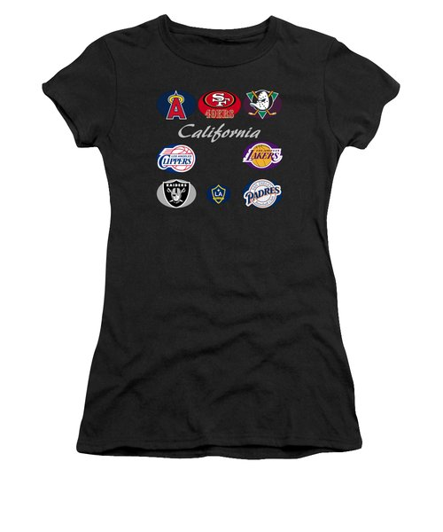California Professional Sport Teams Collage  Women's T-Shirt