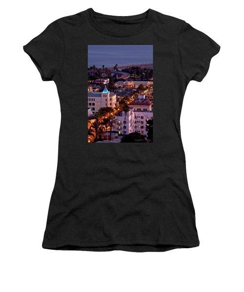 California Street At Ventura California Women's T-Shirt (Athletic Fit)