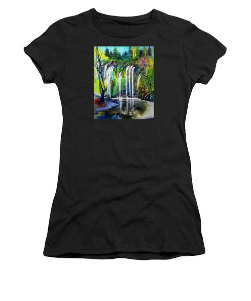 California Water Fall Women's T-Shirt (Athletic Fit)