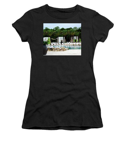 Caliza Pool In Alys Beach Women's T-Shirt (Athletic Fit)
