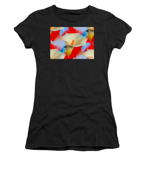 Splashy Calla Lilies Women's T-Shirt