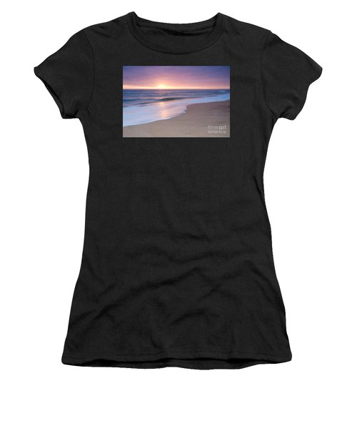 Calm Beach Waves During Sunset Women's T-Shirt