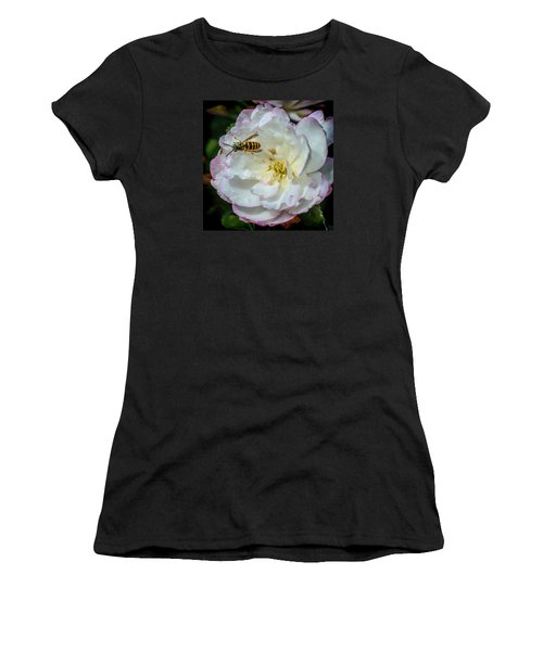 Camelia With Company Women's T-Shirt (Athletic Fit)