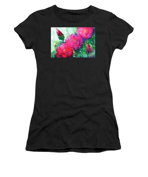 Camellia Abstract Women's T-Shirt (Athletic Fit)