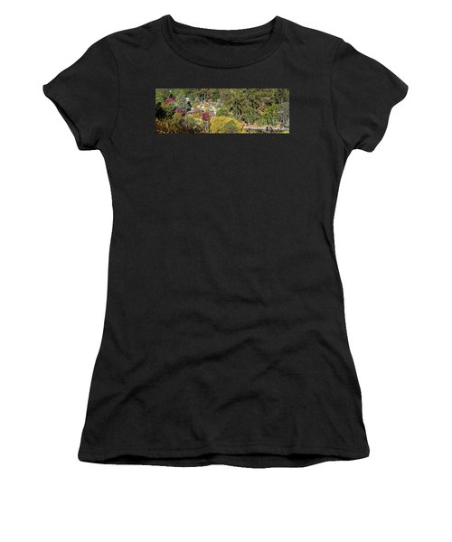 Women's T-Shirt (Junior Cut) featuring the photograph Camelot Castle, Basket Range by Bill Robinson
