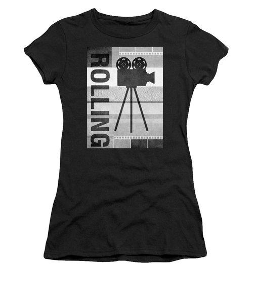 Cameras Rolling- Art By Linda Woods Women's T-Shirt