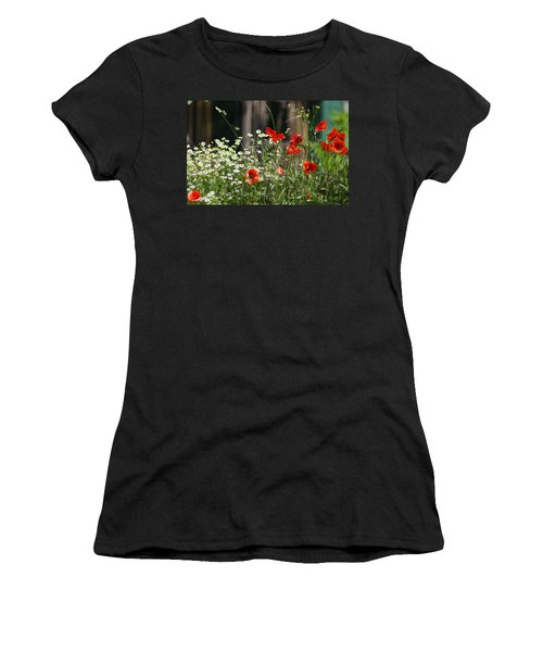 Camille And Poppies Women's T-Shirt (Junior Cut) by Rainer Kersten