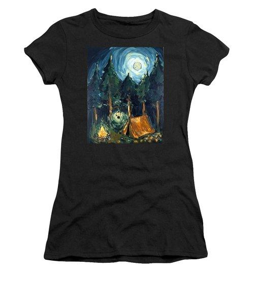 Camp At Night Women's T-Shirt