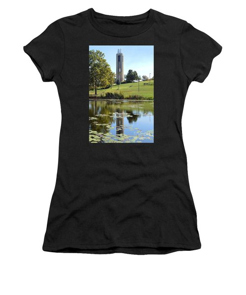 Campanile Reflection In Kansas Women's T-Shirt (Athletic Fit)