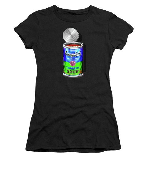 Campbell's Soup Revisited - Blue And Green Women's T-Shirt