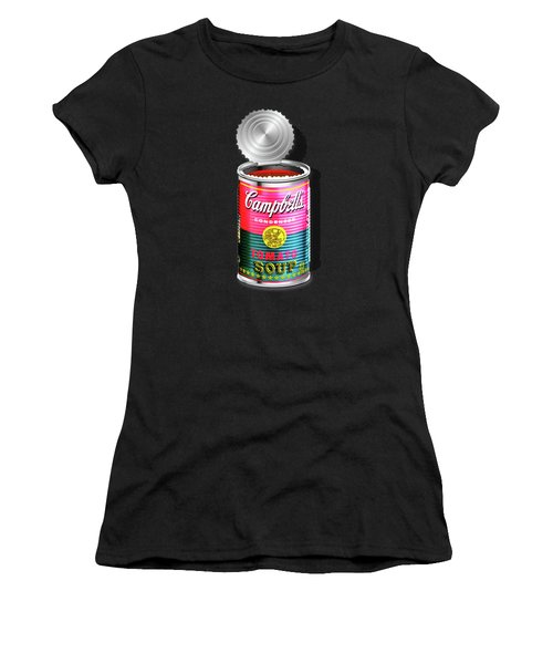 Campbell's Soup Revisited - Pink And Green Women's T-Shirt