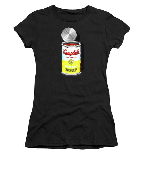 Campbell's Soup Revisited - White And Yellow Women's T-Shirt