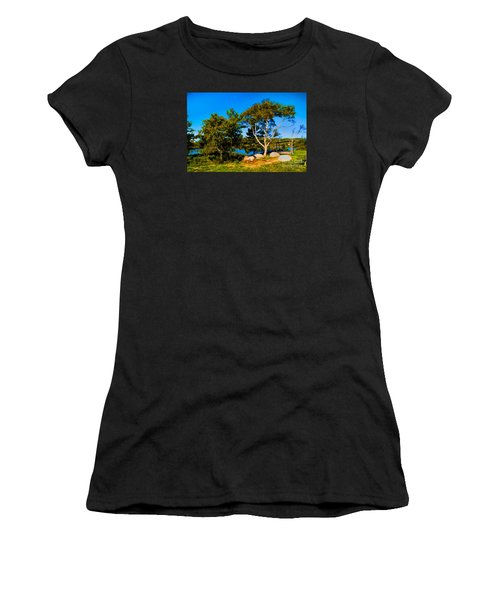 Campfire Lake Women's T-Shirt (Athletic Fit)