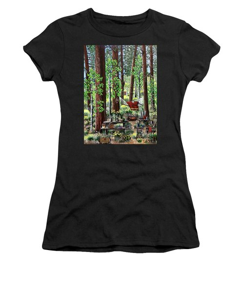 Camping Paradise Women's T-Shirt (Athletic Fit)