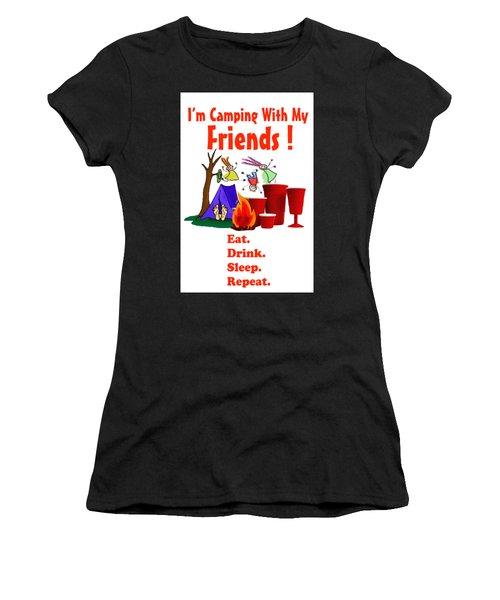 Camping T Shirt Women's T-Shirt (Junior Cut) by Phil Koch