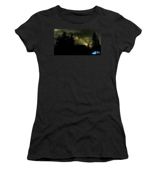 Camping Under The Milky Way 2 Women's T-Shirt