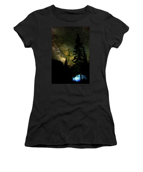 Camping Under The Milky Way Women's T-Shirt