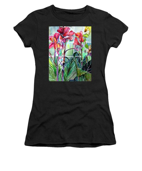 Cana Lily And Daisy Women's T-Shirt (Athletic Fit)