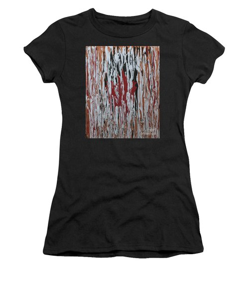Women's T-Shirt (Junior Cut) featuring the painting Canada Cries by Cathy Beharriell