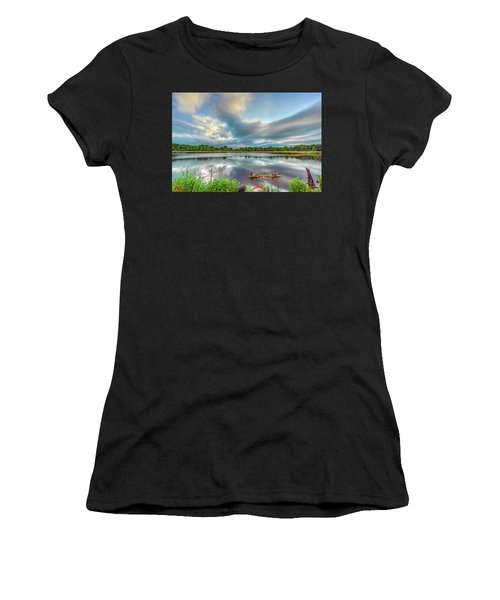 Canadian Geese On A Marylamd Pond Women's T-Shirt