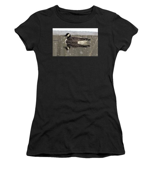 Canadian Goose In Michigan Women's T-Shirt (Athletic Fit)