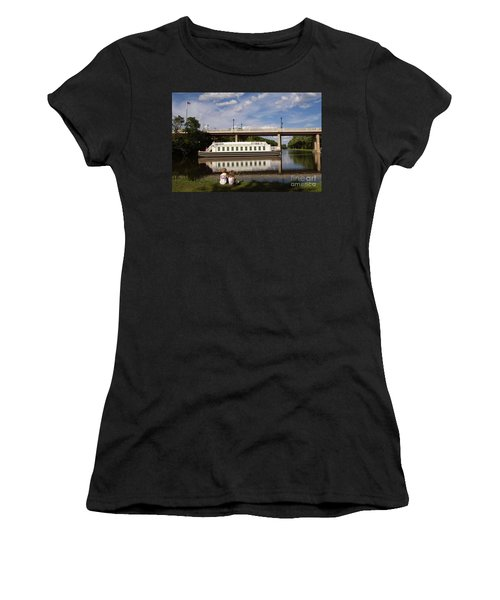 Canal Boat  Women's T-Shirt (Athletic Fit)