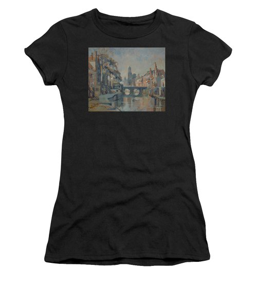 Canal In Utrecht Women's T-Shirt (Athletic Fit)
