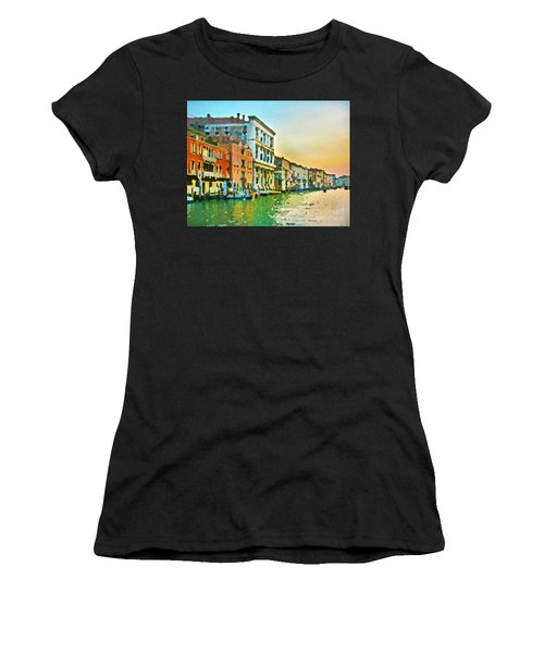 Canal Sunset - Venice Women's T-Shirt (Athletic Fit)