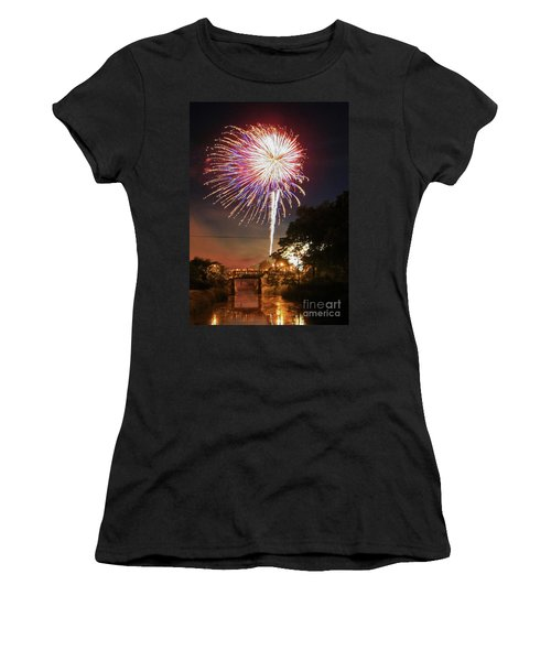 Canal View Of Fire Works Women's T-Shirt (Athletic Fit)