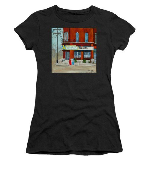 Canary Restaurant Women's T-Shirt (Athletic Fit)