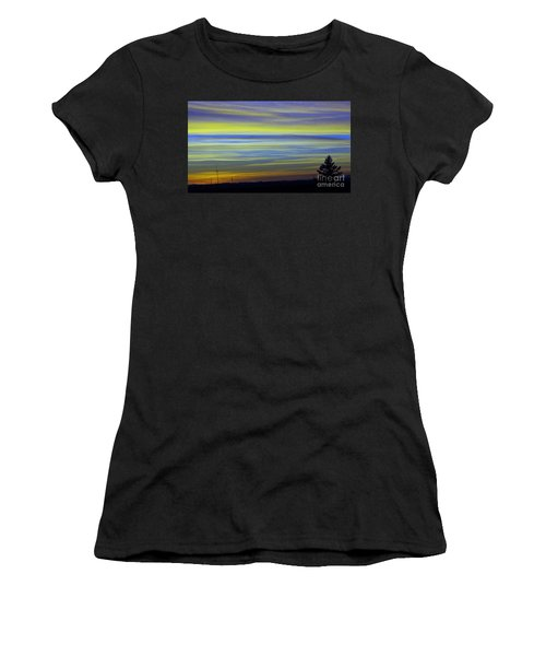 Women's T-Shirt (Junior Cut) featuring the photograph Candy Sky 1 by Victor K
