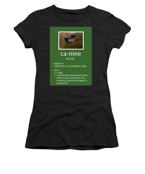 Canine Poster Women's T-Shirt (Athletic Fit)