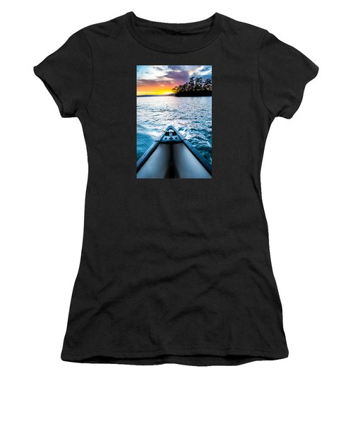 Canoeing In Paradise Women's T-Shirt