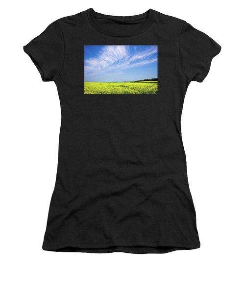 Canola Blue Women's T-Shirt (Athletic Fit)