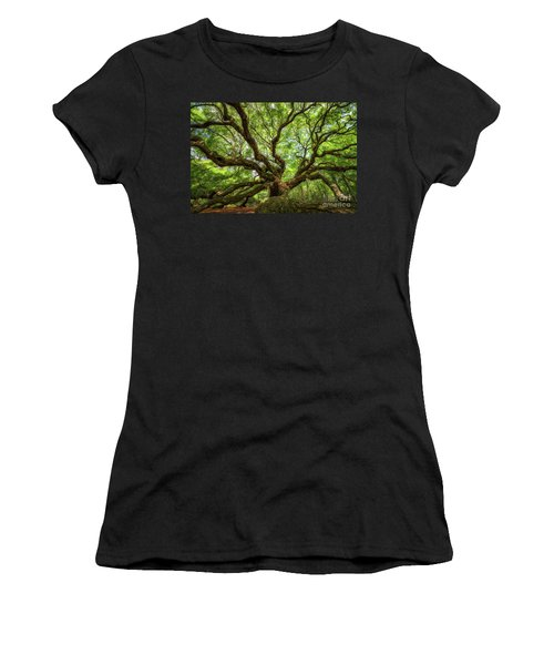 Canopy Of Color At Angel Oak Tree  Women's T-Shirt