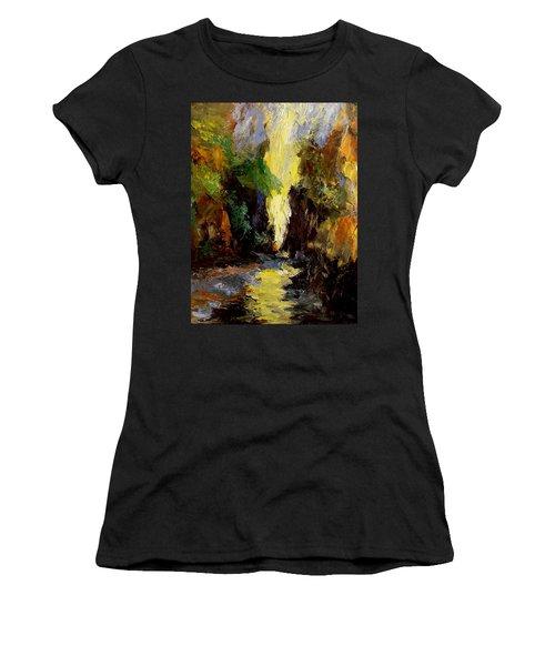 Canyon Creek Women's T-Shirt (Junior Cut) by Gail Kirtz