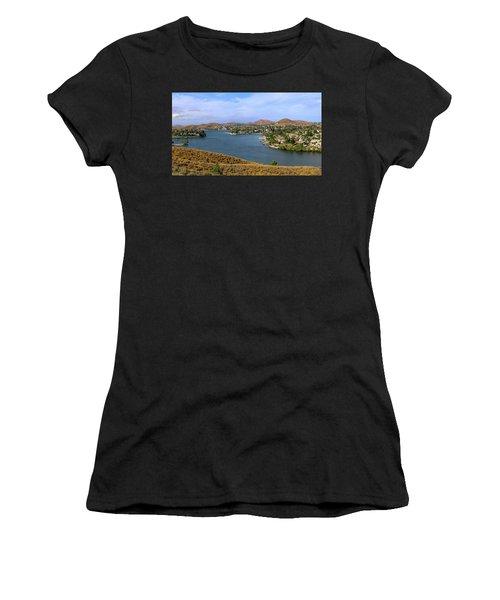 Canyon Lake Panorama Women's T-Shirt (Athletic Fit)
