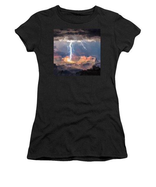 Canyon Storm Women's T-Shirt (Junior Cut)