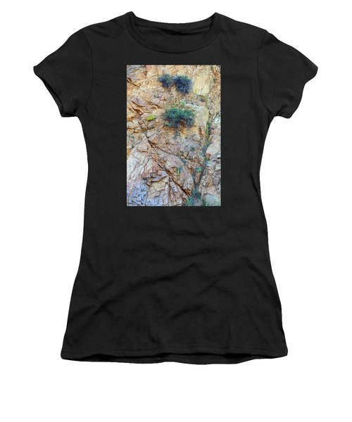 Women's T-Shirt (Athletic Fit) featuring the photograph Canyon Vegetation by James BO Insogna